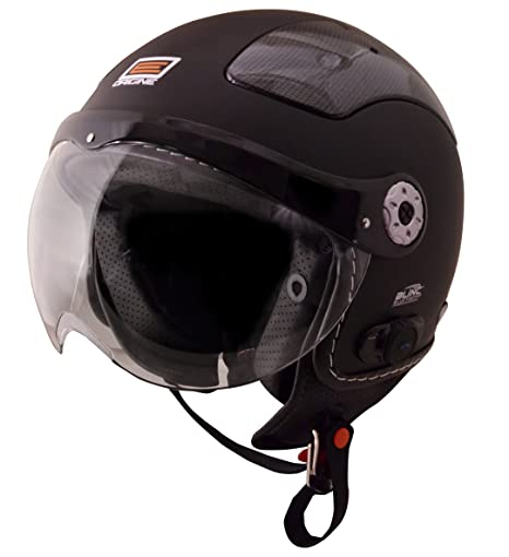 Origine O528B Pilota 3/4 Helmet with Blinc Bluetooth (Flat Black, X-Small)