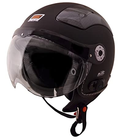 Origine O528B Pilota 3/4 Helmet with Blinc Bluetooth (Flat Black, Medium)