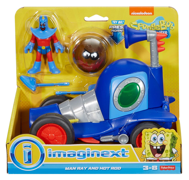 Amazon.com: Fisher-Price Imaginext SpongeBob Man Ray and Hot Rod ...