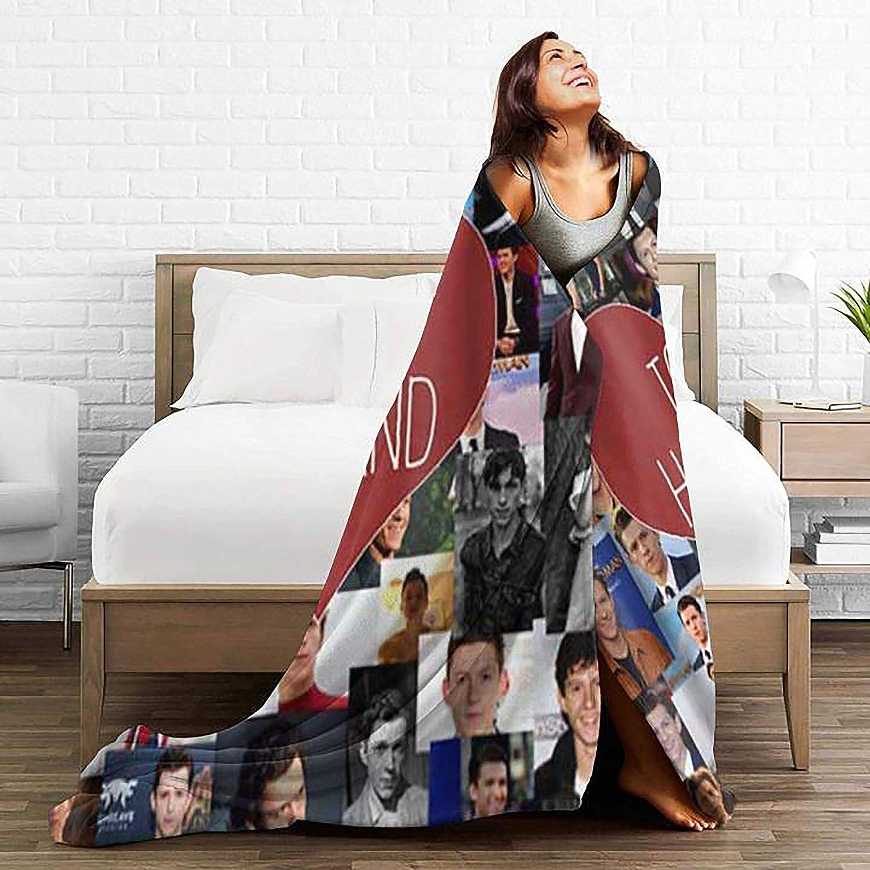 canap/é 127 x 101 cm salon Tom-Holland Couverture polaire ultra douce en flanelle pour chambre /à coucher