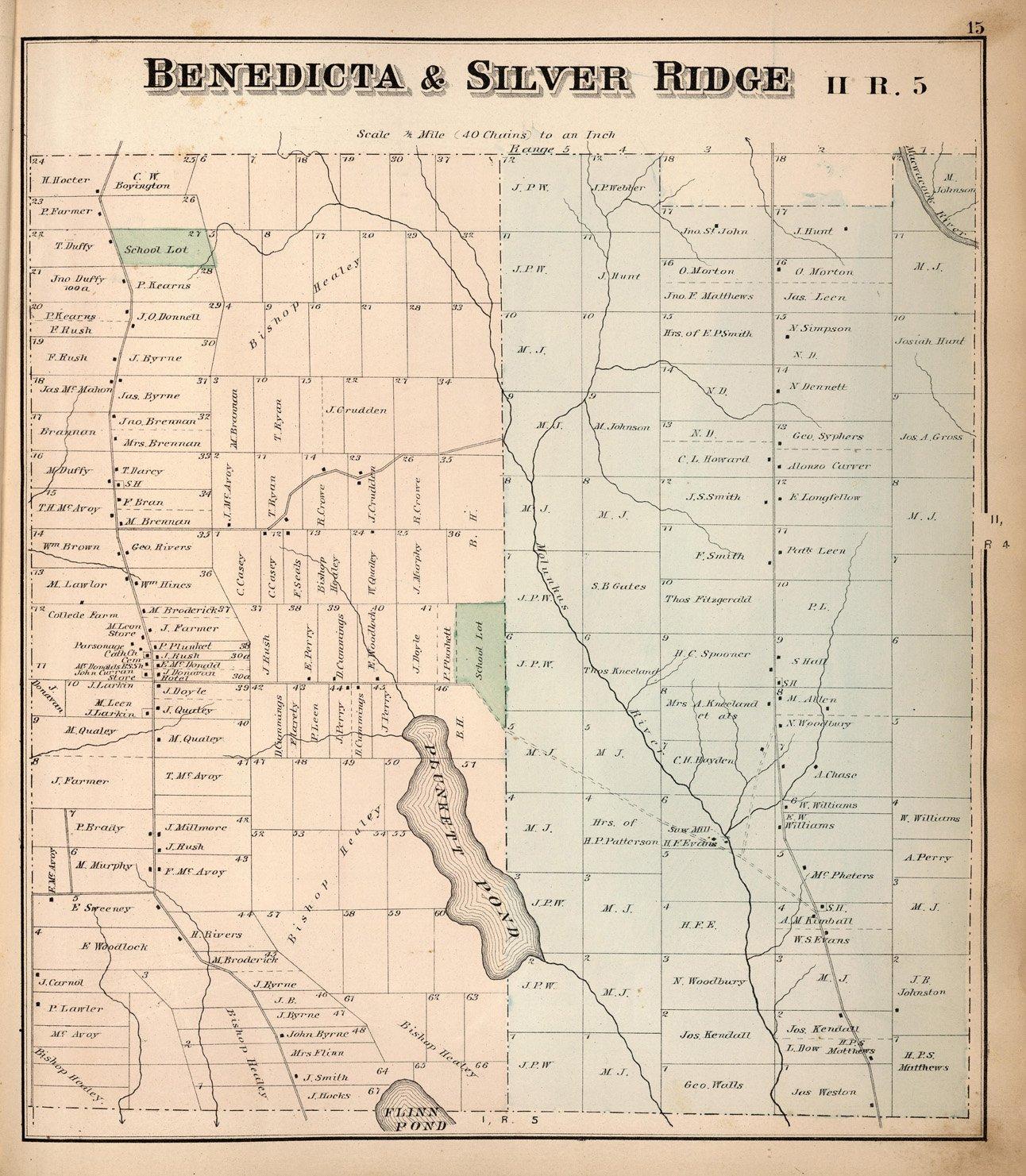 Amazon Com Map Poster Benedicta Silver Ridge Ii R 5 Aroostook