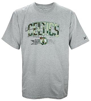 Boston Celtics NBA Big & Tall – Camiseta de manga corta para hombre, color gris