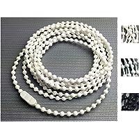 EFIXS Rolgordijnketting van PVC (bedieningsketting) - Lengte: 120 tot 240 cm - hier: 120 cm bedieningslengte (240 cm…