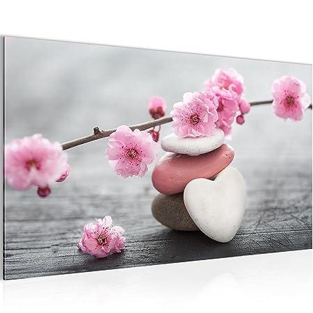 Picture Feng Shui flowers Wall Decoration 70 x 40 cm Fleece - canvas ...