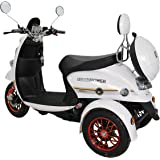 GreenPower 3 Wheeled Electric Mobility Scooter / BZ500 (White)