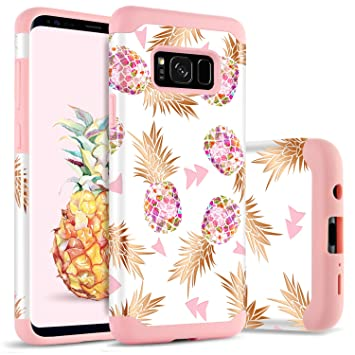 Funda Samsung Galaxy S8 Piña, Funda Galaxy S8, BENTOBEN Ultra Delgado Carcasa Case Cover Brillante Mono, Duro PC y TPU Suave Silicona Anti-Scratch ...