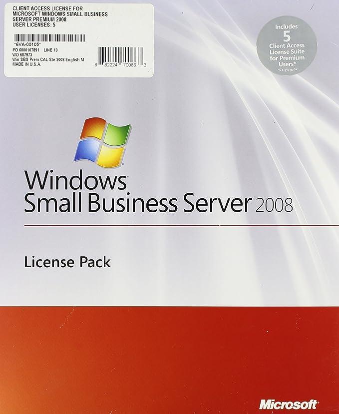 Amazon Com Windows Small Business Server Premium User Cal Suite 2008 English 5 Client Addpak