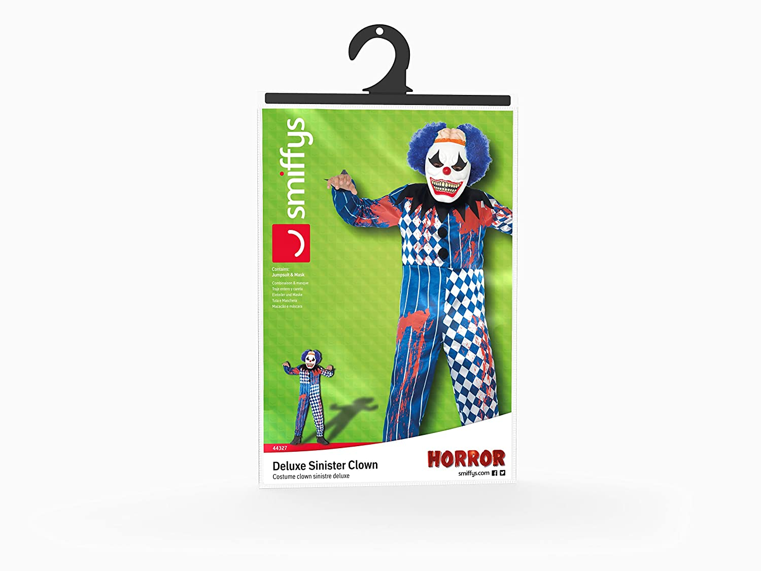 Amazon.com: Smiffys Deluxe Sinister Clown Costume: Clothing