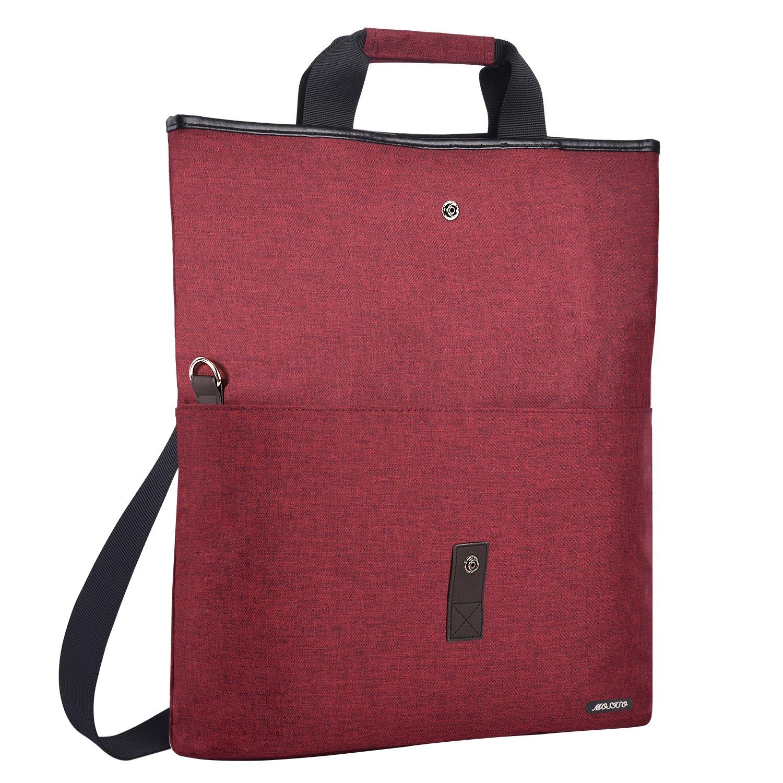 MOSISO Laptop Tote Bag (up to 13.3 Inch), Compatible MacBook Ultrabook Notebook, Versatile Convertible Work Travel Shopping Duffel School Briefcase Shoulder Handbag Crossbody Hiking Daypack, Wine Red
