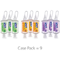 PURELL Advanced Hand Sanitizer Gel Infused with Essential Oils, Scented Variety Pack, 9 - 1 fl oz Travel Sized Flip Cap Bottles with included JELLY WRAP Carriers (Pack of 9) – 3900-09-ECME17