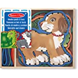 Melissa & Doug Lace and Trace Activity Set: Pets - 5 Wooden Panels and 5 Matching Laces