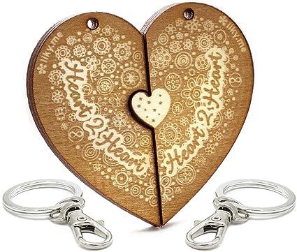 LIKY® Amor Heart2Heart - Llavero corazón Partido Pareja ...
