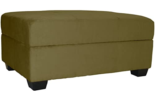 36 by 24 by 18-Inch Storage Ottoman Bench, Olive Green