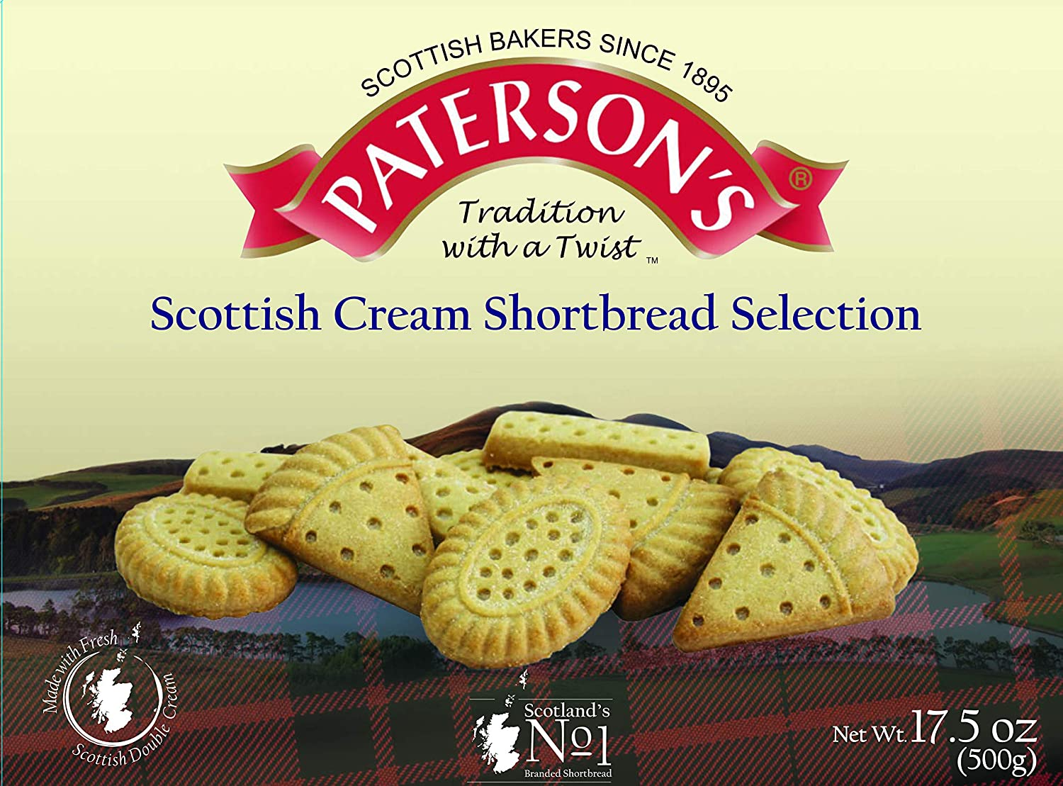 Paterson's Rich Scottish Cream Assortment 17.5 oz, Scottish Shortbread, Shortbread Cookies From Scotland, Scottish Shortbread Cookies, Butter Cookies, Christmas Tea Cookies, Scotch Biscuit (Pack of 1)