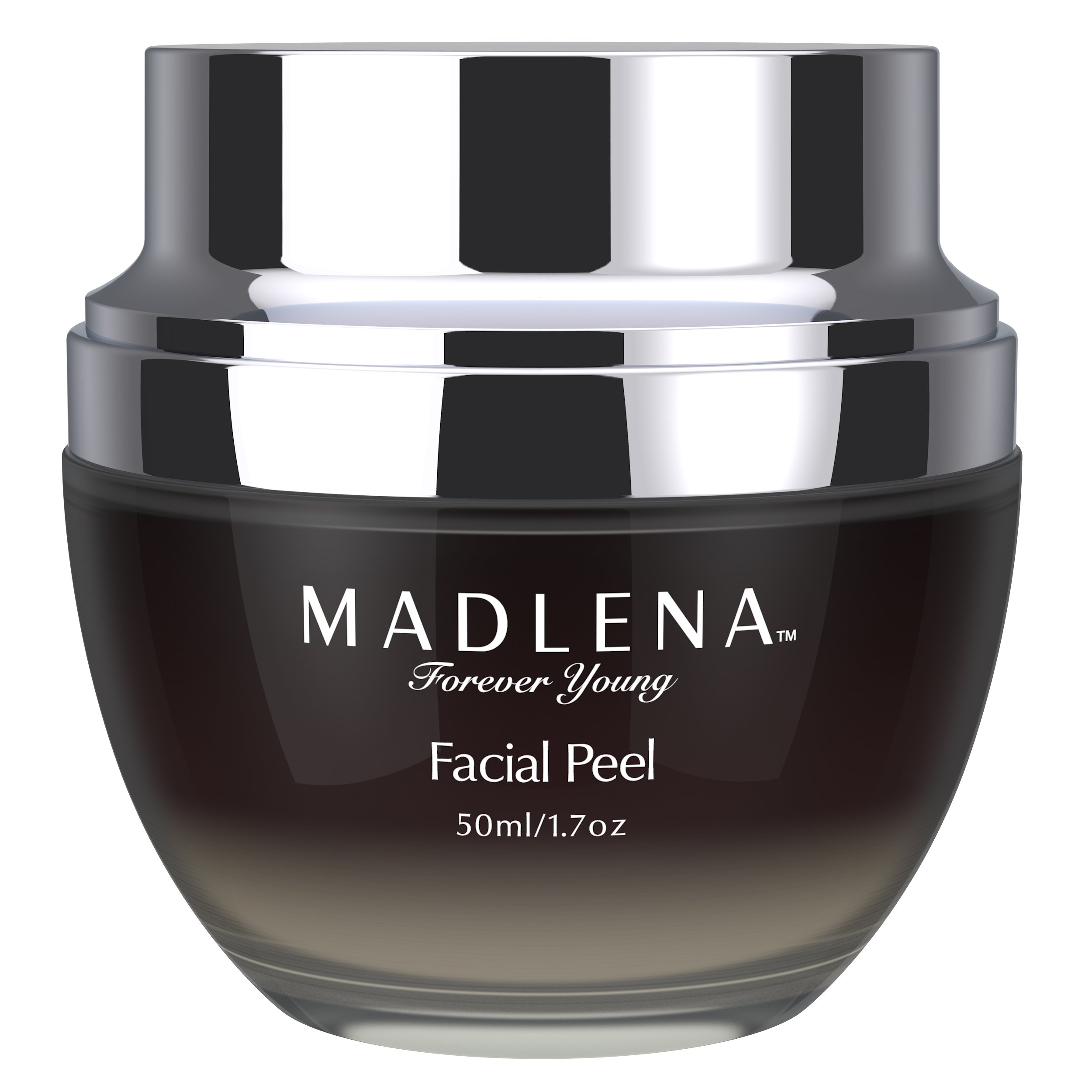 Madlena Platinum-Infused Anti-Aging Facial Peel - Anti-Wrinkle Face Peeling Gel for Flawless Skin - Reduce Lines and Sun Spots - Eliminate Acne and Blemishes - Moisturize and Replenish