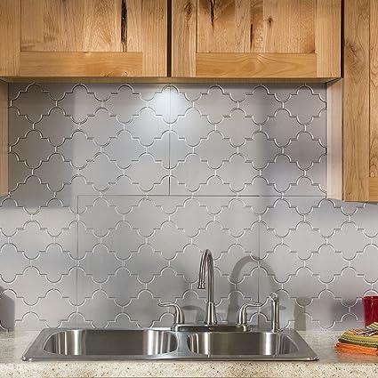 Amazon Com Fasade Easy Installation Monaco Argent Silver Backsplash