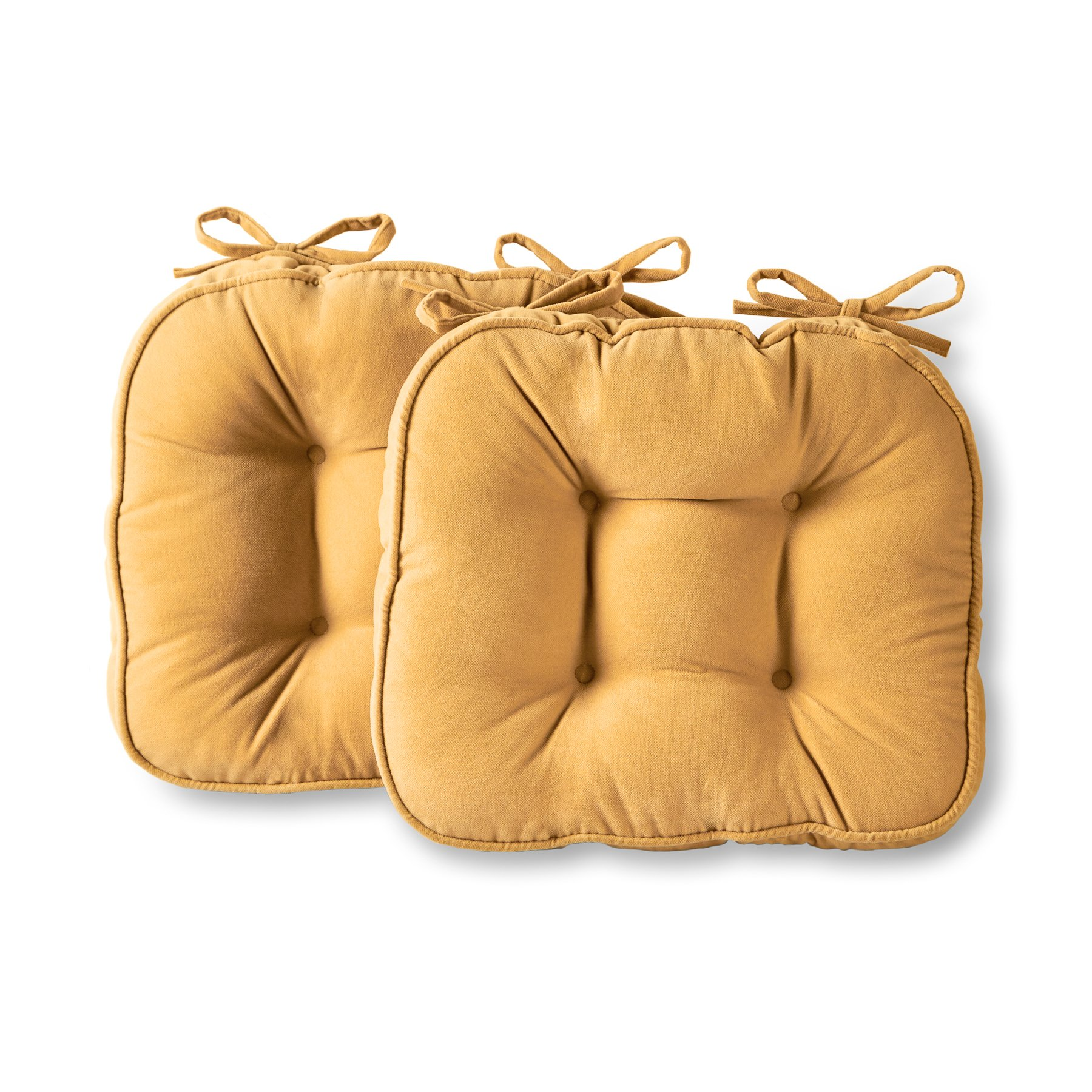 Greendale Home Fashions Hyatt Chair Pad, Cream, Set of 2