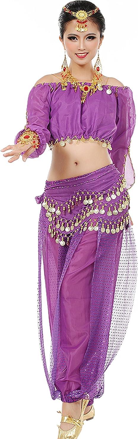 Astage Mujeres Danza del Vientre Disfraz Active Wear Top ...