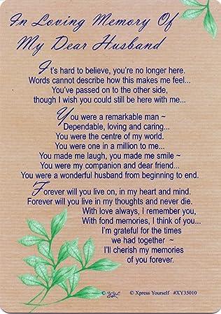 In Loving Memory Of My Dear Husband Gravegraveside Memorial