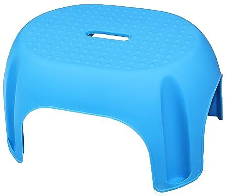 Wondrous Amazon Com Blue Plastic Step Stool Home Kitchen Pabps2019 Chair Design Images Pabps2019Com