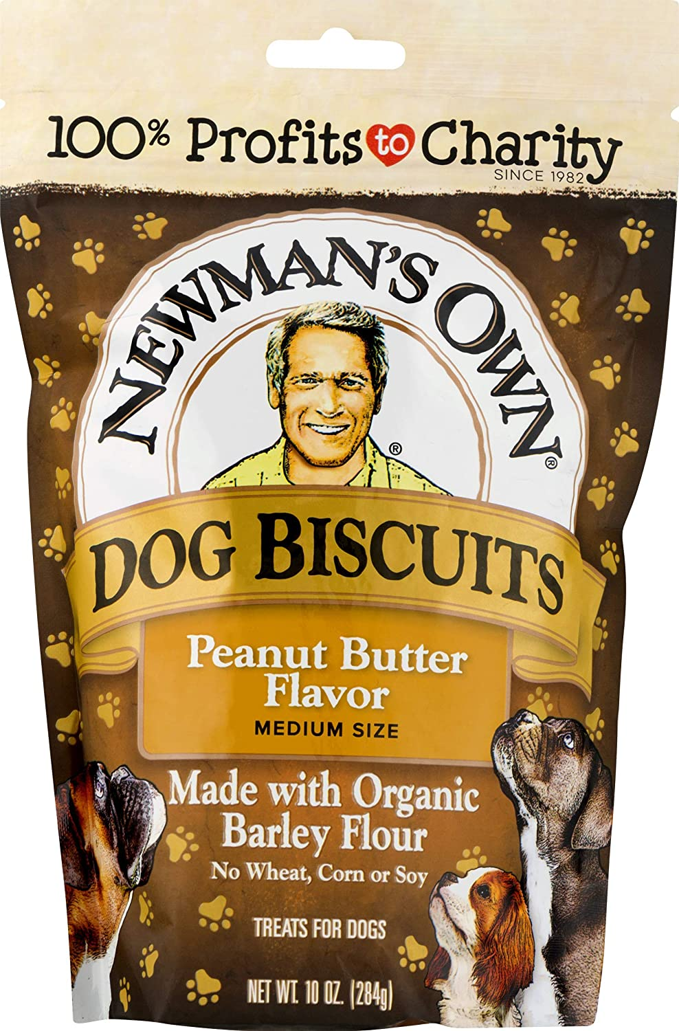 Newman's Own Dog Biscuits, 10-oz. (Pack of 6), Peanut Butter