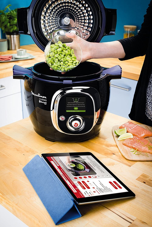 Moulinex Cookeo Connect-Robot de Cocina (Capacidad 6 litros, conectividad con Tablet y Smartphone, tecnología Alta presión), 1200 W, Cerámico, Negro (Reacondicionado Certificado): Amazon.es: Hogar