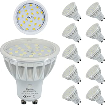 Cool White Basics Professional LED GU10 Spotlight Bulb Dimmable 50W equivalent Pack of 6