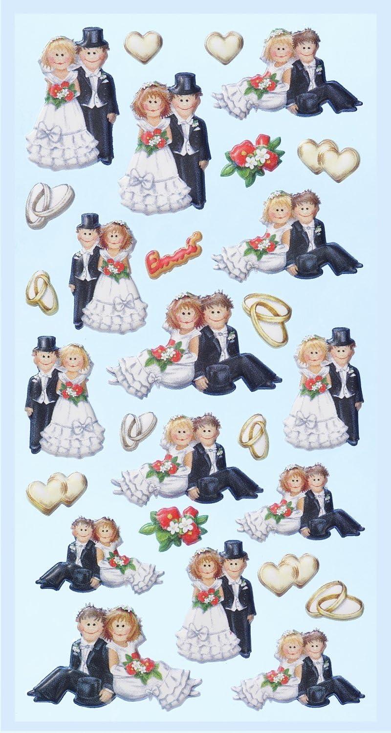 cellophane platinata testa piatta Adesivi Susy Card matrimonio 1.6/1/foglio autoadesivo