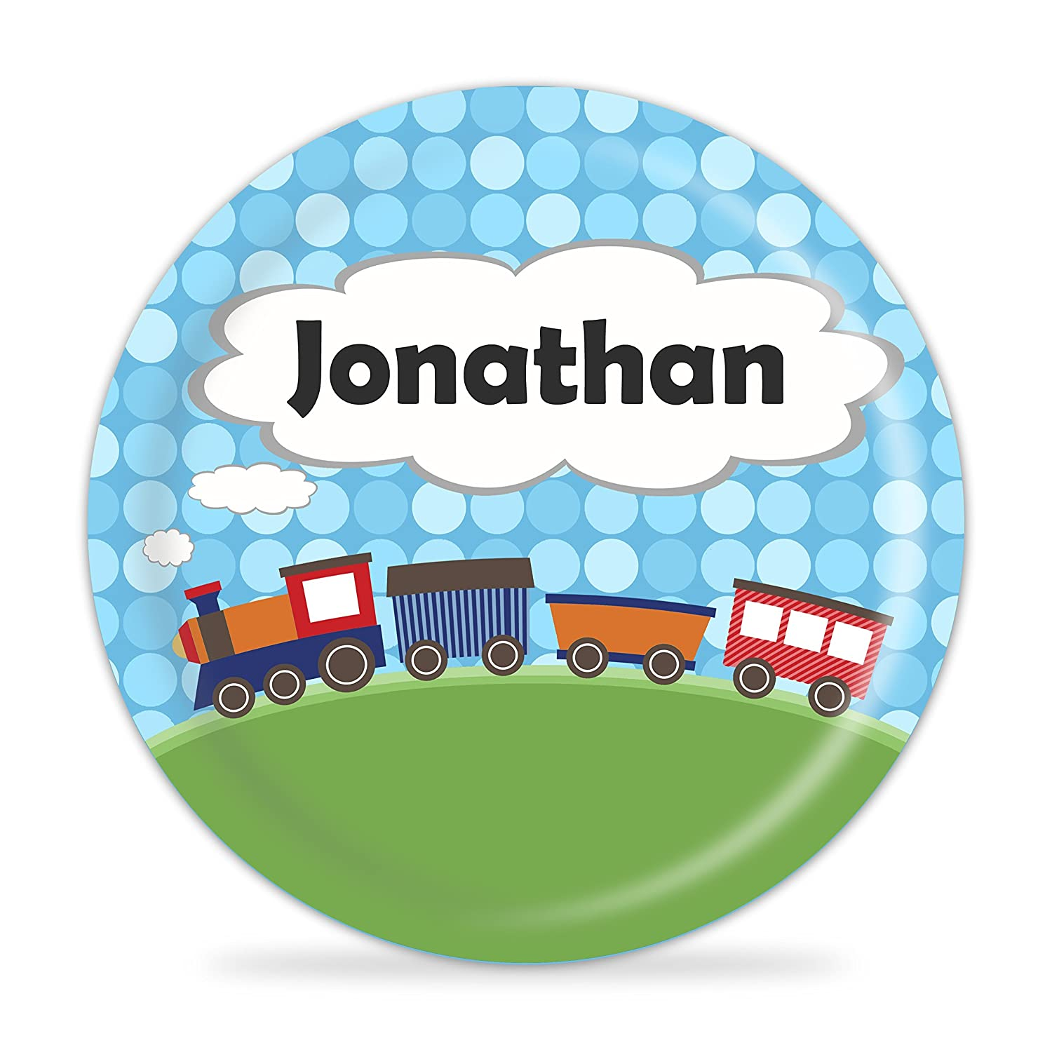 Train Plate - Choo Choo Train Melamine Personalized Plate