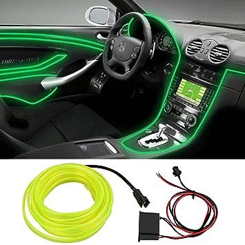Auto Atmosphäre Neon EL Draht, 12 V flexibel Kaltlicht ...