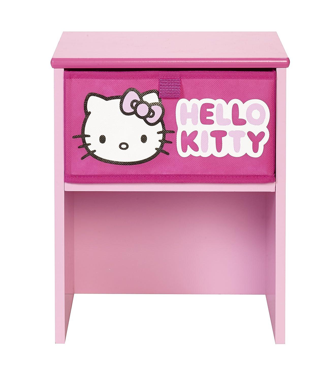 Worlds Apart 864786 Hello Kitty Table de Chevet MDF