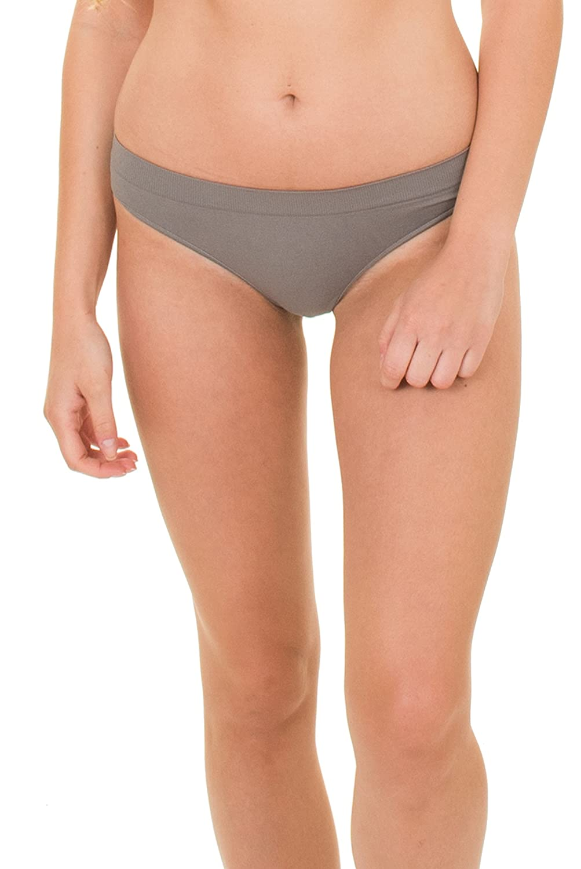 Kalon 6 Pack Womens Nylon Spandex Thong Underwear