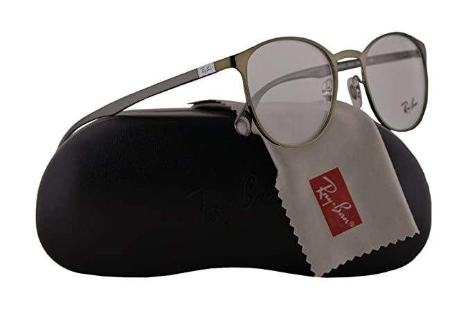 fea5407dbc1 Image Unavailable. Image not available for. Colour  Ray Ban RX6355 Eyeglasses  50-20-145 Brushed Green ...