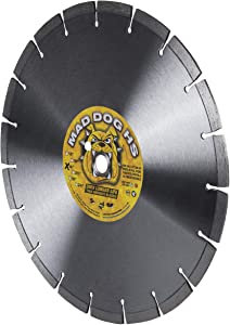 """Mad Dog HS 14-Inch (14"""") X .125 X 1""""-20MM Wet/Dry Diamond Blade for Concrete, Masonry, Stone, Roof Tile and Similar Materials"""