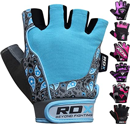 RDX Ladies Weight Lifting Gloves Body Building Gym Training Women Cycling CA