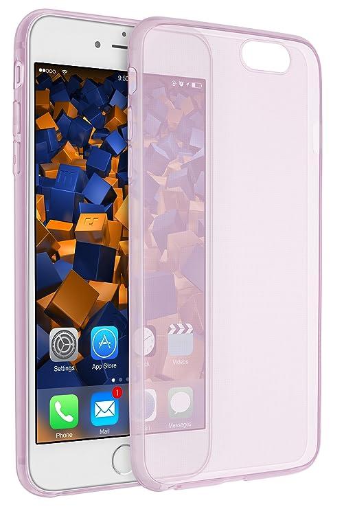 mumbi UltraSlim Hülle für iPhone 6 6s Schutzhülle transparent rosa (Ultra Slim - 0.55 mm)