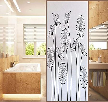 YOLIYANA - Película Decorativa para Ventana de Cristal, sin Pegamento, para privacidad de Ventana, Adhesivo 3D de Cristal Blanco y Negro para Puertas, armarios, baño, 17 x 24 Pulgadas: Amazon.es: Hogar