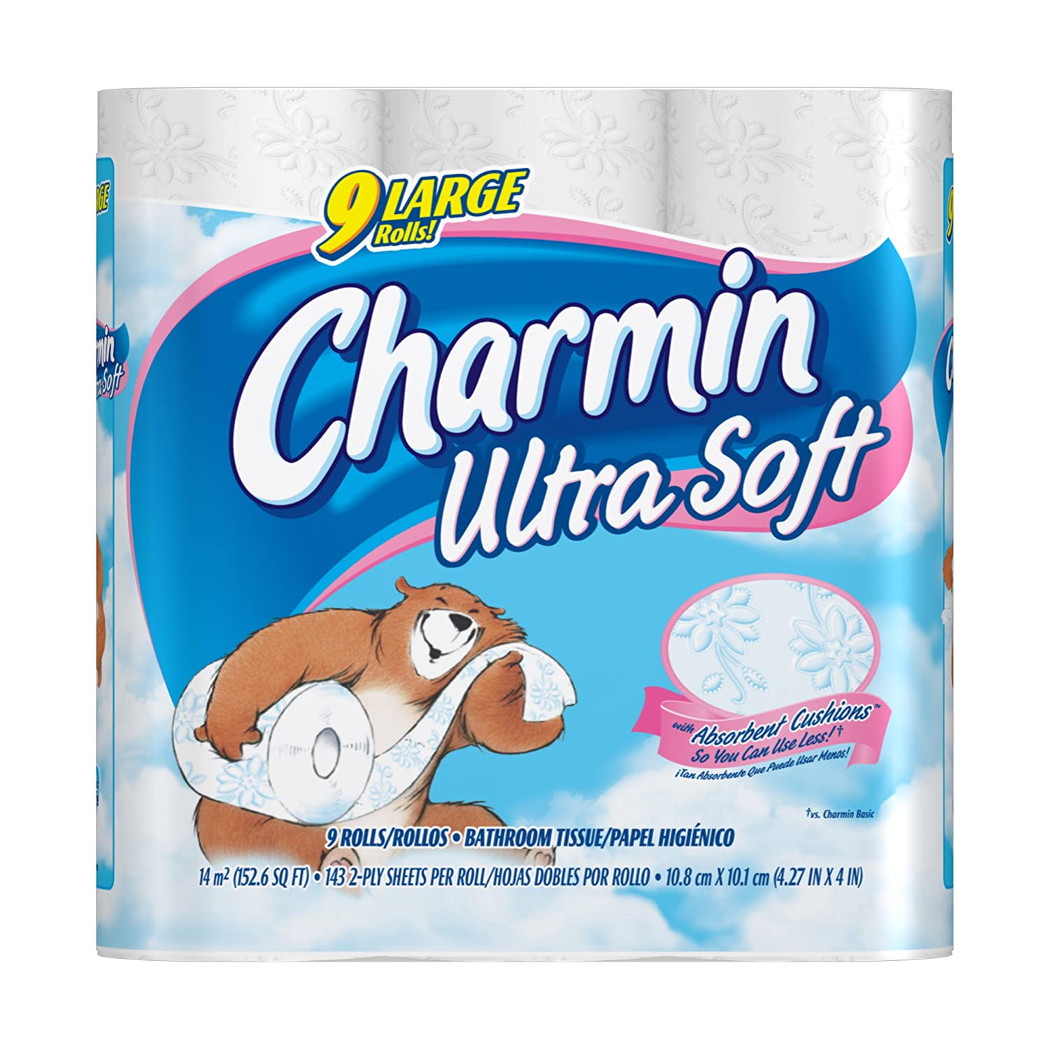 Amazon Charmin Ultra Soft 9 Large Rolls 143 2 Ply Sheets Per Roll Pack Of 4 Health Personal Care