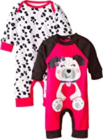 Gerber Baby Girls' 2 Pack Coveralls