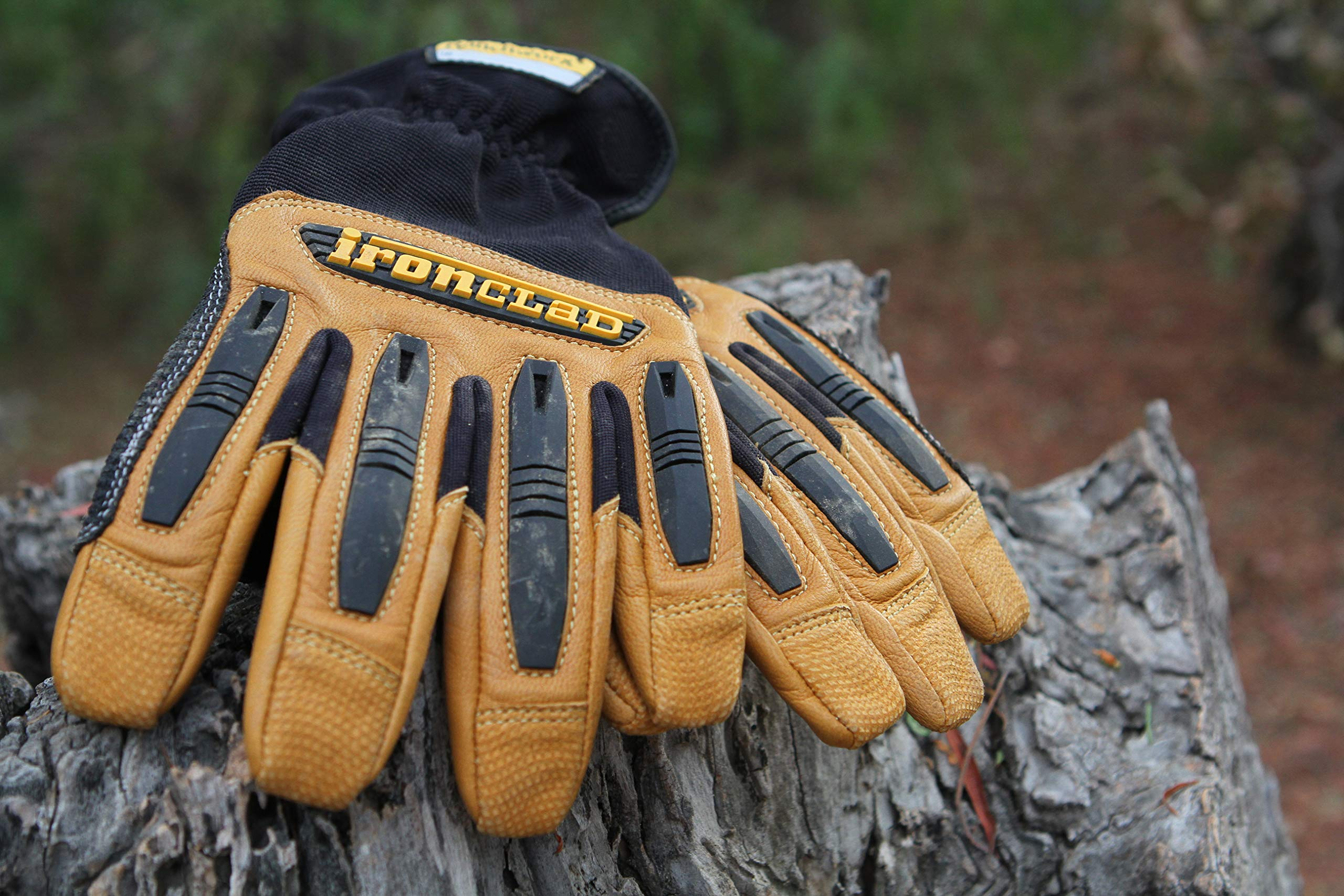 Ironclad Ranchworx Work Gloves RWG2, Premier Leather Work Glove, Performance Fit, Durable, Machine Washable, Sized S, M, L, XL, XXL, XXXL (1 Pair) by Ironclad (Image #3)