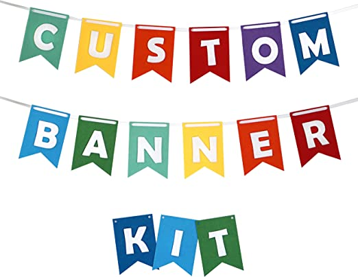 Rainbow Stripes Personalised Children/'s Birthday Party Bunting