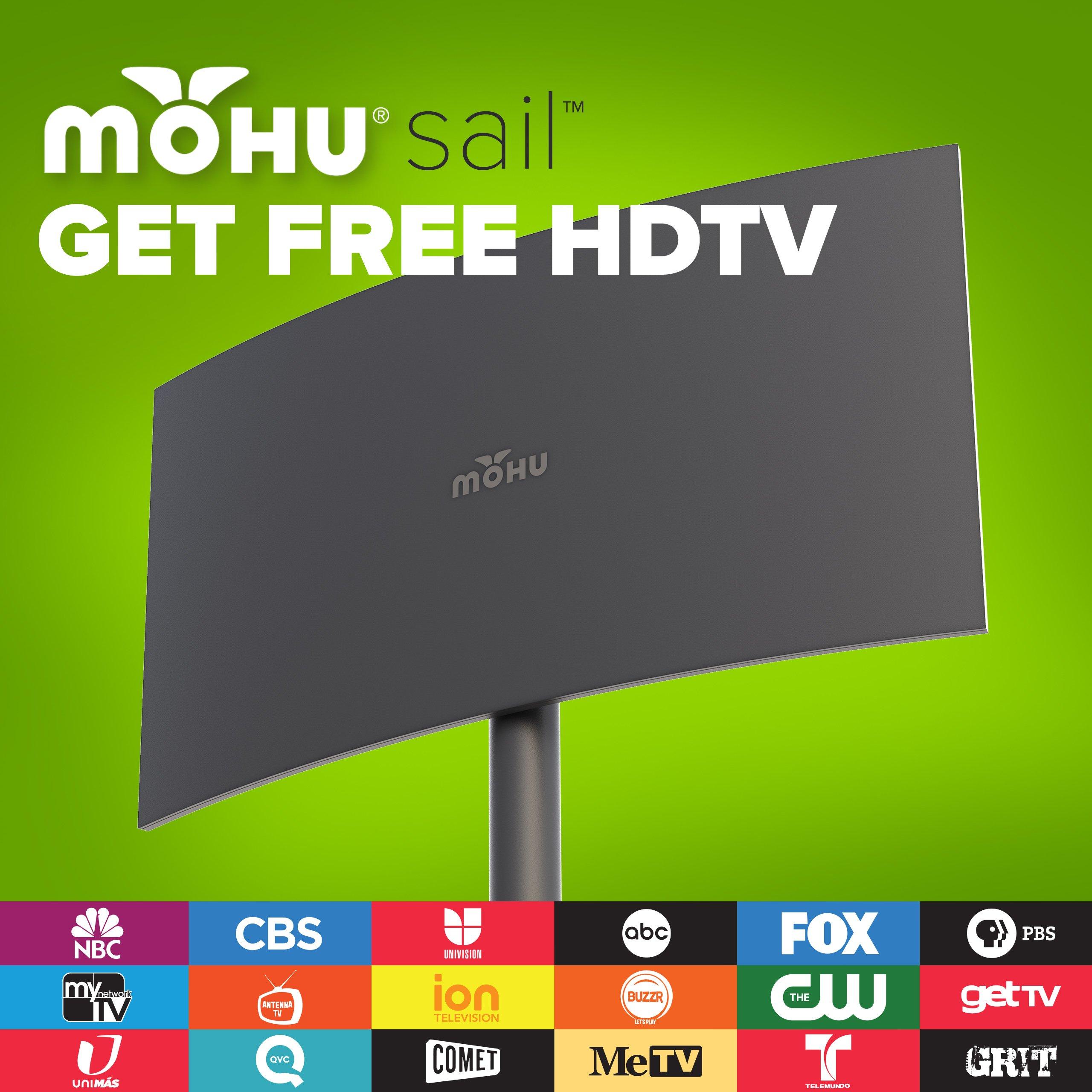Mohu Sail Outdoor Tv Antenna Multidirectional 75 Mile Range For Free