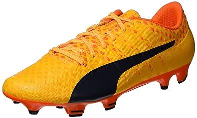 Puma Evopower Vigor 3 FG, Chaussures de Football Homme, Orange (Ultra Yellow-Peacoat-Orange Clown Fish 04), 47 EU
