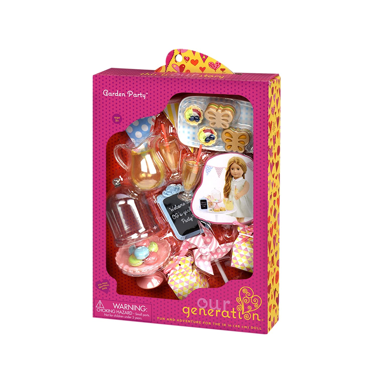 Our Generation Dolls Garden Party Accessories Set