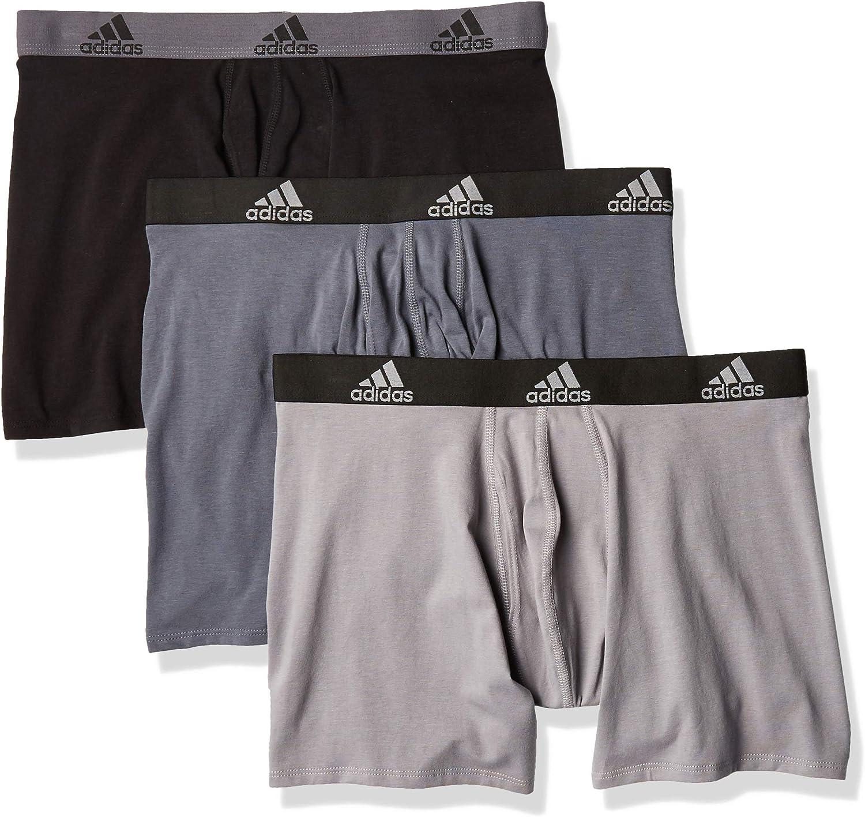 adidas mens Stretch Cotton Boxer Brief Underwear
