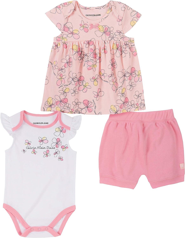 Calvin Klein Baby Girls' 3 Pieces Shorts Set