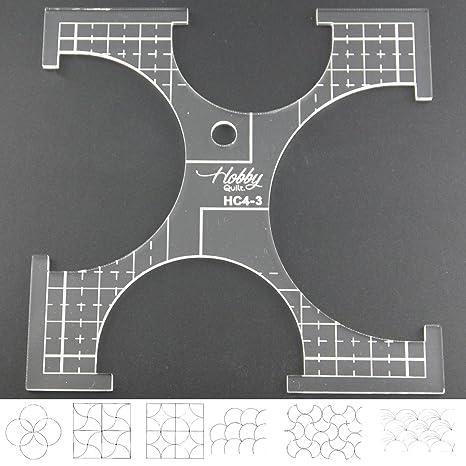 5 mm acrílico de punto de sueño Patchwork Quilting plantilla regla Clamshell para uso doméstico (
