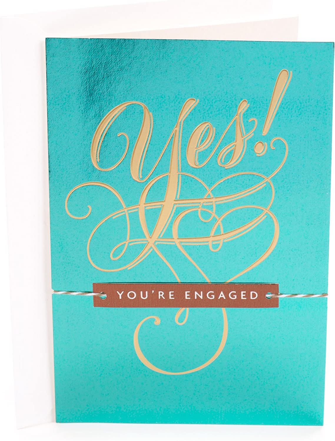 Amazon Com Hallmark Engagement Congratulations Greeting Card Yes You Re Engaged Office Products