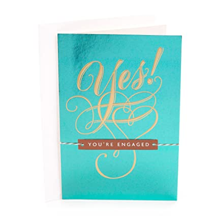 Amazon hallmark engagement congratulations greeting card yes hallmark engagement congratulations greeting card yes youre engaged m4hsunfo