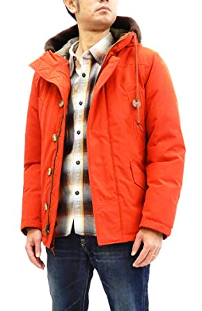 Pherrow s Men s Slim Fit Down Jacket Parka for Urban Outfitters 18W-P-9  Orange 7ebbd7ea6